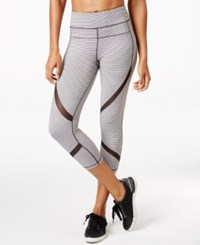 Calvin Klein Performance Striped Capri Leggings Sweatshirt Stripe