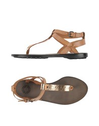Buttero Footwear Thong Sandals Women Copper