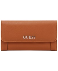 Guess Delaney Slim Clutch Wallet Cognac