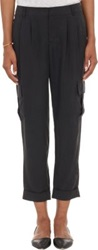 Barneys New York Cuffed Cargo Pants Black