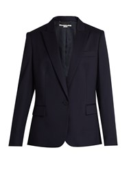 Stella Mccartney Ingrid Single Breasted Wool Jacket Navy
