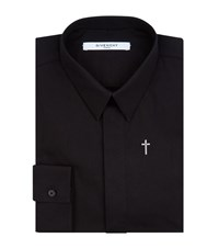 Givenchy Embroidered Cross Motif Shirt Male Black