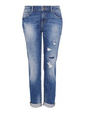 Hallhuber Pre Distressed Boyfriend Jeans Blue