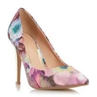 Head Over Heels Addyson Pointed Toe High Heel Court Shoes Multi Coloured