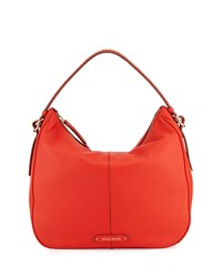 Cole Haan Iris Large Leather Hobo Bag Citrus Red