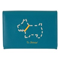 Radley In Stitches Leather Card Holder Blue