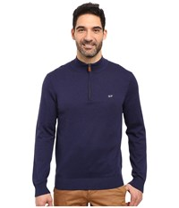 Vineyard Vines Cotton 1 4 Zip Deep Bay Men's Clothing Blue