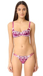 Agent Provocateur Kaity Non Padded Balcony Bra Cerise Navy