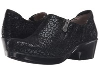 Naturalizer Florence Black Cheetah Leather Women's Shoes
