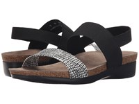 Munro American Pisces White Black Fabric Combo Women's Sandals