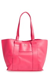 Emperia Faux Leather Tote Pink Coral