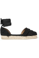 Castaner Phoebe Fringed Canvas Espadrilles Black
