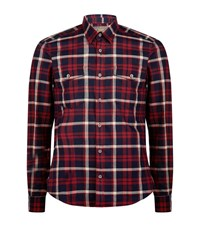 Barbour International Chain Flannel Shirt Male Red