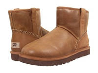 Ugg Classic Mini Stitch Chestnut Leather Men's Pull On Boots Brown