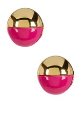 Trina Turk Resin Stud Earrings Metallic