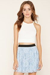 Forever 21 Pleated Lace Mini Skirt