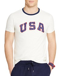 Polo Ralph Lauren Team Usa Vintage Graphic Slim Fit Tee White