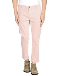 Siviglia White Trousers Casual Trousers Men Salmon Pink