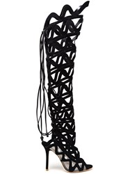 Sophia Webster 'Mila' Thigh High Boots Black