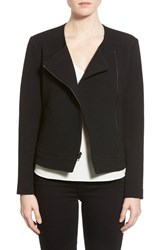 Women's Cupcakes And Cashmere 'Cheyenne' Waffle Asymmetrical Zip Jacket Black