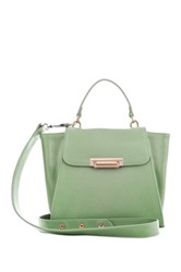 Segolene En Cuir Petite Pensee Genuine Leather Handbag Green