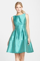 Women's Alfred Sung Dupioni Fit And Flare Dress Azure