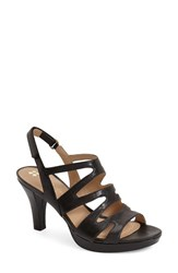 Women's Naturalizer 'Pressley' Slingback Platform Sandal Black Leather