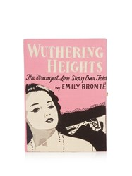 Olympia Le Tan Wuthering Heights Book Clutch Pink Multi