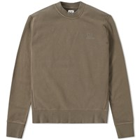 C.P. Company Classic Stitch Logo Crew Sweat Green