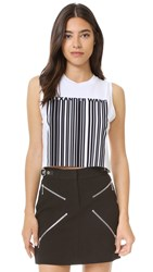 Alexander Wang Crop Top With Printed Barcode Frost