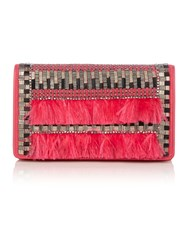 Matthew Williamson Evening Pink Clutch Bag Pink