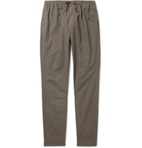 Tomas Maier Slim Fit Drawstring Cotton Trousers Gray