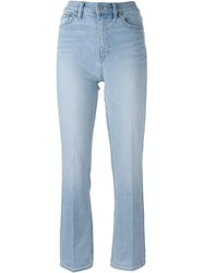 Tory Burch High Waisted Jeans Blue
