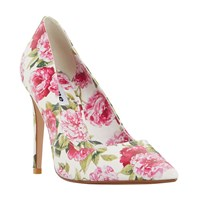 Dune Bloom Pointed Toe Court Shoes White