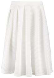 Wal G. Pleated Skirt Cream Off White