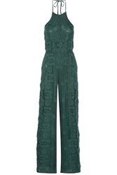Miguelina Harriet Crocheted Cotton Jumpsuit