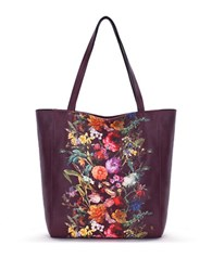 Elliott Lucca Allday Faux Leather Tote Black Cherry Autumn