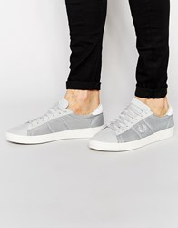 Fred Perry Spencer Mesh Trainers Grey