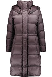 Add Quilted Shell Coat Purple