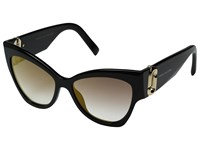 Marc Jacobs 109 S Black Gray Shaded Lens Fashion Sunglasses Yellow