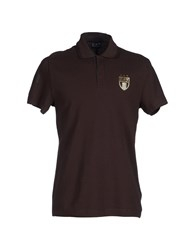 Emporio Armani Ea7 Topwear Polo Shirts Men Dark Brown
