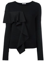 Dondup Ruffle Detail Jumper Black