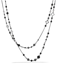 David Yurman Dy Elements Chain Necklace With Black Onyx And Hematine Silver