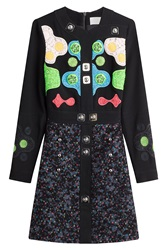 Peter Pilotto Embellished And Embroidered Dress Multicolor