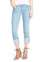 Women's Hudson Jeans 'Muse' Cuff Crop Jeans Glass Shore
