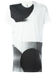 Julius Abstract Print T Shirt White