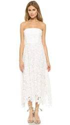 Bb Dakota Eleanor Strapless Lace Midi Dress White