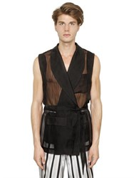 La Perla Cotton And Silk Chiffon Jacquard Vest