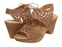 Spring Step Lamay Beige Leather Women's Wedge Shoes