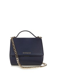 Givenchy Pandora Box Small Leather Shoulder Bag Blue